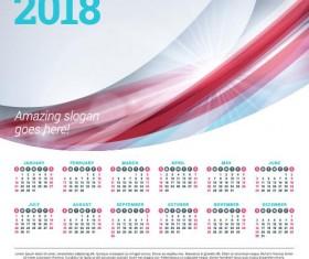 2018 business calendar template vectors 08