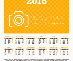 2018 business calendar template vectors 09