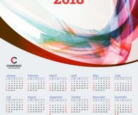 2018 business calendar template vectors 10