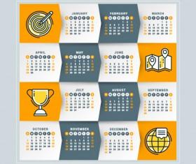 2018 business calendar template vectors 06