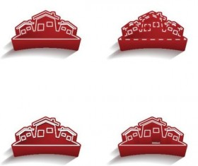 3D Real estate logos vector