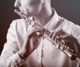 A man with a clarinet Stock Photo