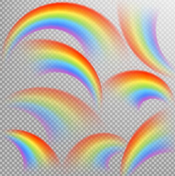 Abstract rainbow illustration vectors 01