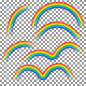 Abstract rainbow illustration vectors 03