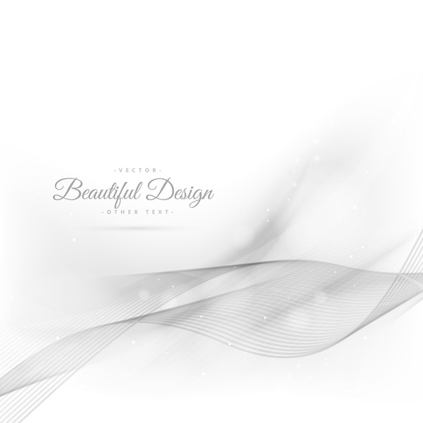 Abstract wavy lines with white background vector 02