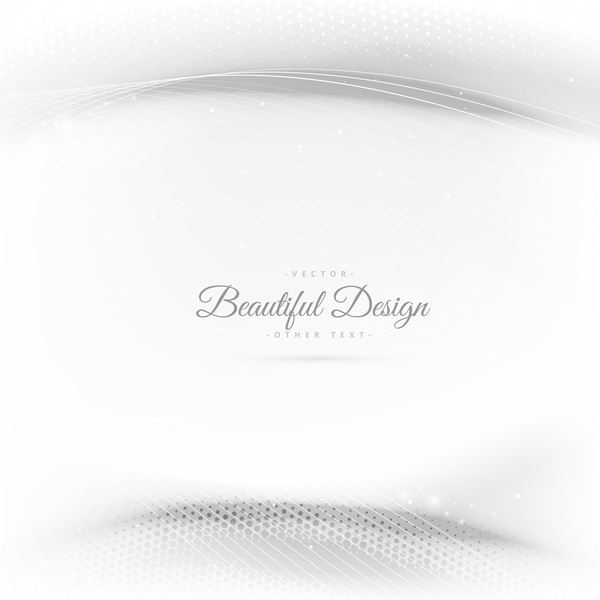 Abstract wavy lines with white background vector 05