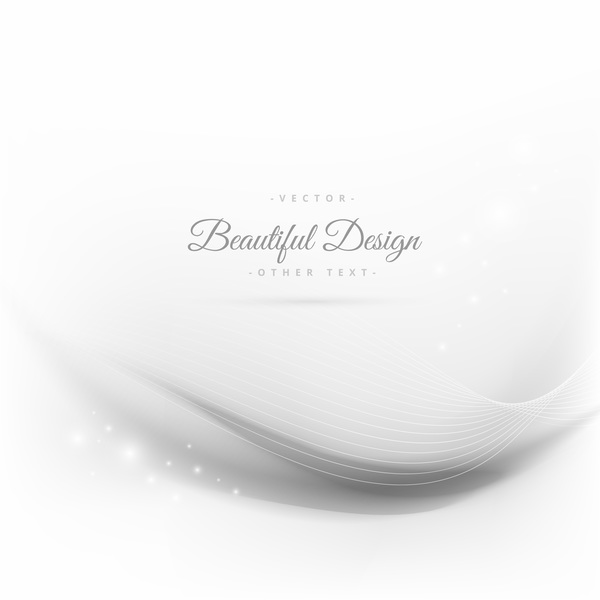 Abstract wavy lines with white background vector 07