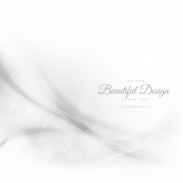 Abstract wavy lines with white background vector 08