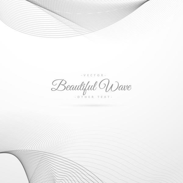Abstract wavy lines with white background vector 09