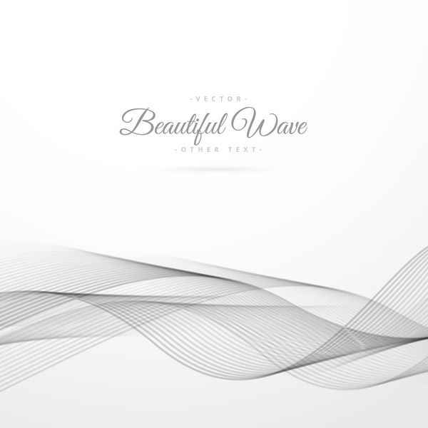 Abstract wavy lines with white background vector 13
