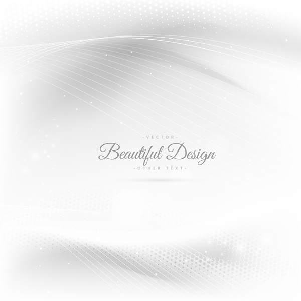 Abstract wavy lines with white background vector 14
