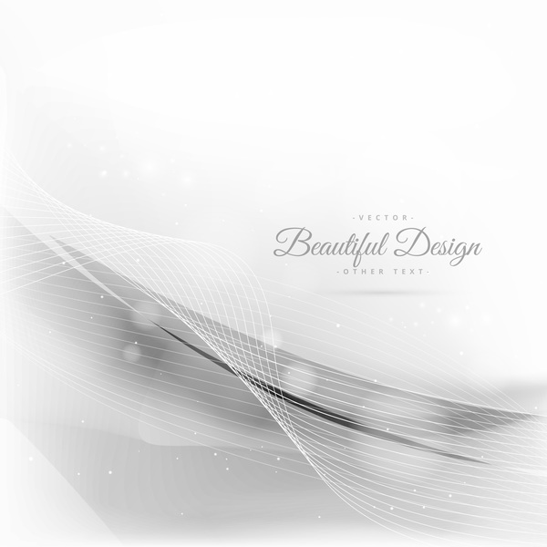 Abstract wavy lines with white background vector 19