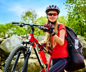 Active lifestyle cycling Stock Photo