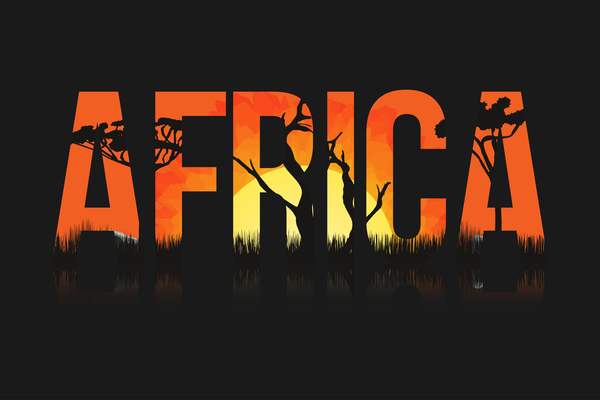 Africa sunset landscape beautiful vector 02