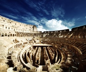 Ancient Colosseum Stock Photo
