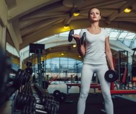 Arrogant fitness girl Stock Photo