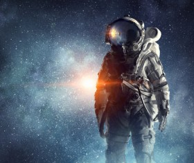 Astronaut in outer space Stock Photo 08