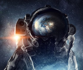 Astronaut in outer space Stock Photo 10