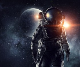 Astronaut in outer space Stock Photo 11