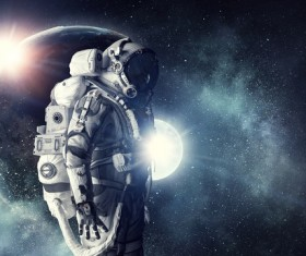 Astronaut in outer space Stock Photo 14