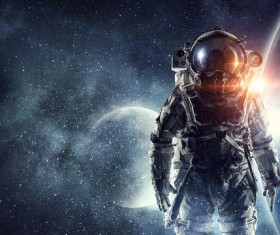 Astronaut in outer space Stock Photo 15