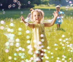 Baby and bubbles HD picture