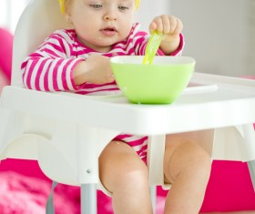 Baby to eat Stock Photo