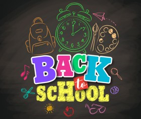Back to school background hand drawn vector