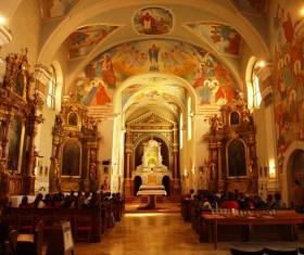 Barrani church interior Stock Photo
