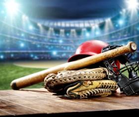 Baseball appliances and gymnasiums Stock Photo