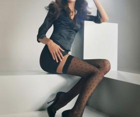 Beautiful fashion female model Stock Photo