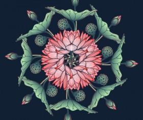 Beautiful lilies flower vector 01