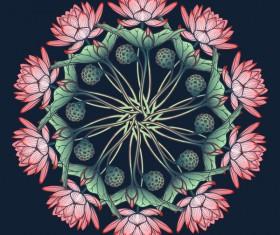 Beautiful lilies flower vector 02