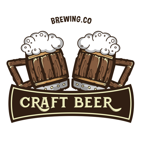 Beer label design template vector