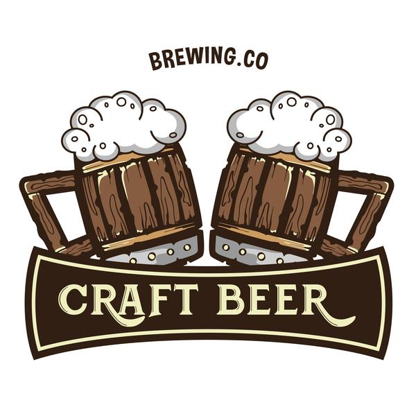 Beer Label Design Template Vector