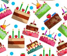 Birthday cake seamless pattern vector