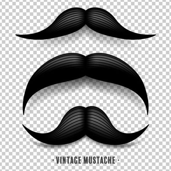 Black mustache illustration vector 04 free download