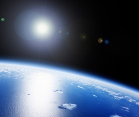 Blue earth Stock Photo