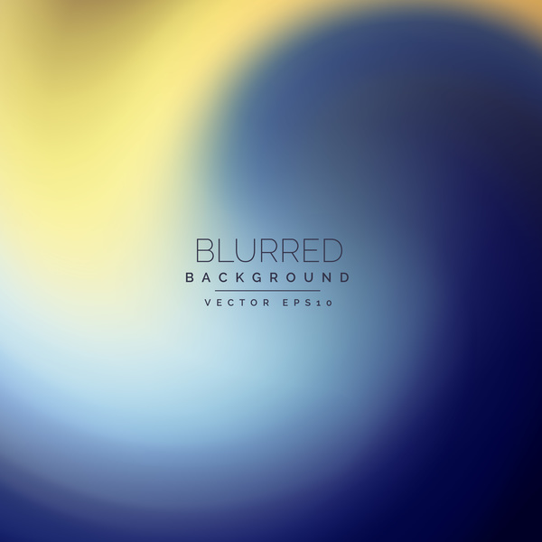 Blue with yellow blurred background vector