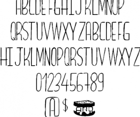 Bread and Cheese font