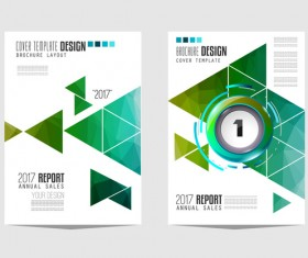 Business flyer brochure cover template vector 01
