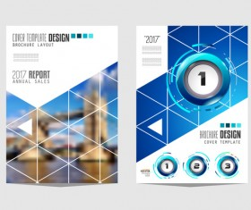 Business flyer brochure cover template vector 04