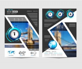 Business flyer brochure cover template vector 06