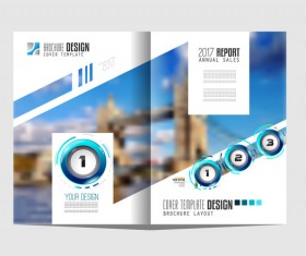 Business flyer brochure cover template vector 07