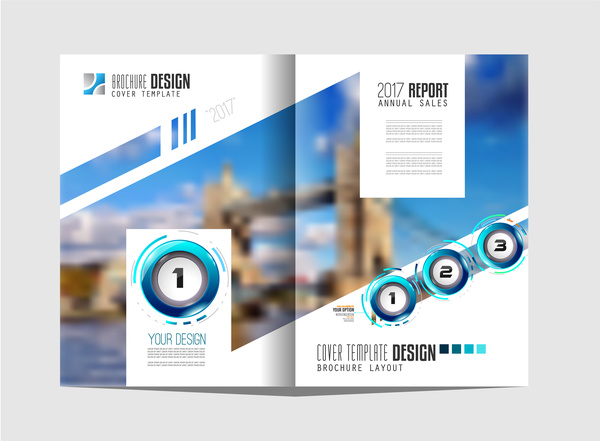 Business flyer brochure cover template vector 08