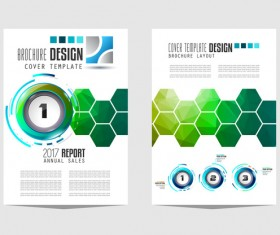 Business flyer brochure cover template vector 09