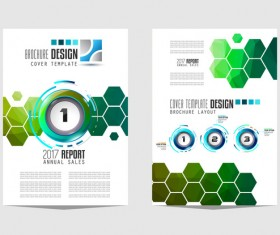 Business flyer brochure cover template vector 10
