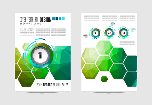 Business flyer brochure cover template vector 11