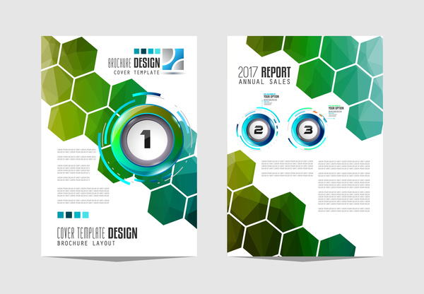 Business flyer brochure cover template vector 13
