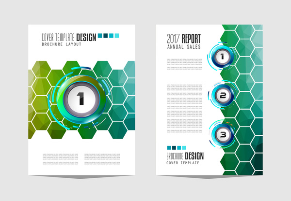 Business flyer brochure cover template vector 16
